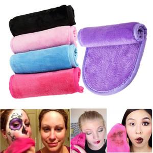 La magia del maquillaje suave removedor de toallas de microfibra reutilizable de limpieza de la piel de la cara Borrador toalla limpia Lazy belleza facial bayetas de tela lavada
