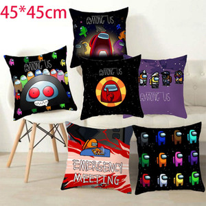 45CM Cartoon 2020 NEW No Pillow Insert Square Among Us Game Fans Anime Cute Pillow Case Cover Model Student Bedroom Xmas Gift
