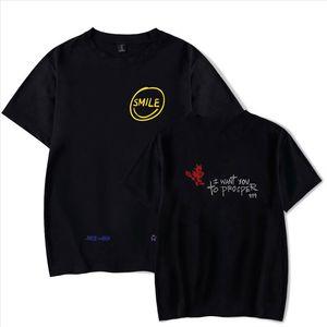 Juice Wrld T Shirt Men Women Summer Trends Letters Print Senorita Pop Hip Hop Handsome Singer Juice Wrld Gray T shirt Casual