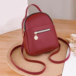 Рюкзак стиль навсегда молодой дизайнер женщины мини-мягкая сенсорная кожа маленькая женская мода дам модный пахель сумка
