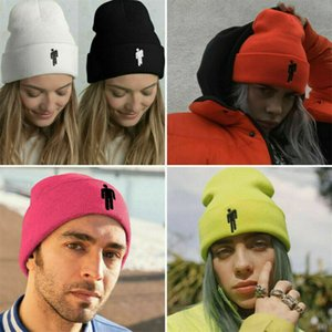 Unisex Women Men 5 Color Beanie Stickman Knit Hats Bonnet Spring Warm Fashion Casual Elastic Soft Breathable Hip Hop Caps