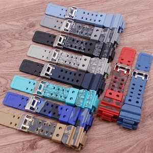 Watch Bands Accessories Camouflage Rubber Strap Replacement For GD120GA-100GA-110GA Men's Strap1