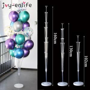 1set 14 Tubes Balloon Holder Balloons Stand Column Confetti Balloon Kids Birthday Party Baby Shower Wedding Decoration Supplies sqcBON