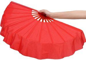 ZooBoo 1pair 12 Bones Plastic Dance Hand Held Fan Taichi Kungfu Fan Dancing Fans Martial Arts Sports Folding Hand Fan 4 Colors
