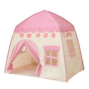 Folding Kids Tent Baby Play House Large Room Flowers Blooming Tipi Indoor Tent Best Birthday Gift Children Outdoor Play Teepee wmtlzh