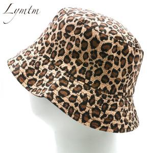 2020 Trendy New Women Leopard Print Bucket Comfortable Breathe Foldable Men Summer Beach Flat Top Sun Fishing Hat Streetwear
