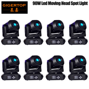 Nuovo 90W LED Spot Moving Head luci DMX512, Led Moving Head Gobo prisma Funzione elettronico di messa a fuoco, DJ Spot Light mini dj diso in movimento