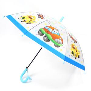 SafeBet enfants parapluie cartoon voiture parapluies transparents enfants parapluie animaux mignons parapluies semi automatiques dropshipping 201104