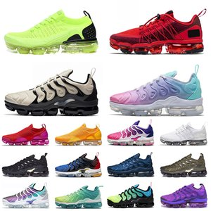 max vapormax vapor max tn plus flyknit 2021 Top Tn Plus SIZE 36-47 Run Utility CNY RED Volt Bayan FLY KNIT Spor Ayakkabıları Açık Kemik Erkek Bayan Eğitmenler Spor Ayakkabıları