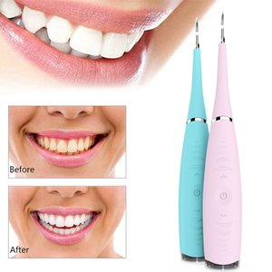 Electric Ultrasonic Sonic Dental Scaler Tooth Calculus Plaque Remover Tool Kit Portable Stains Tartar Clean Tool Whiten TeethRab