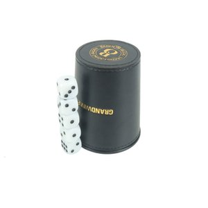Pvc Black Flannel High Grade Nightclub Dice Leather Color Game Sieve Cup IE74