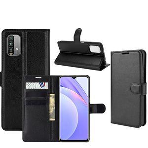 For Xiaomi Redmi Note 6 Pro Litchi Premium PU Leather Flip Wallet Case Cover For Redmi Note 9 4G 9 Power