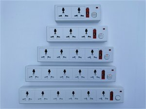 2-6 way switched Extension socket UK multi universal Convenient porous home office