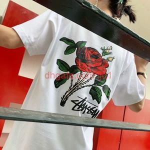 Verão Novo / Stussy Trend Marca Designer Luxo Rua Hip Hop American T-shirt Camisa de Manga Curta 2020