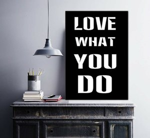 LOVE WHAT YOU DO Home Decoration Handpainted &HD Print Oil Painting On Canvas Wall Art Canvas Pictures 201009