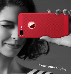 Luxus-Telefon-Kasten für Iphone 7 Breathwärmeableitung Abdeckung Ultra Slim Peeling Telefon glatt Touch Kühl Telefon Shell