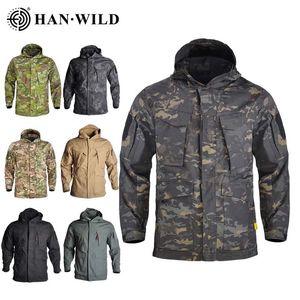 M65 Jacket Tactical Jackets Windbreaker Hiking Camping Jackets Outdoor Hoodie Sports Coat Men Multi-pocket Jackets Waterproof