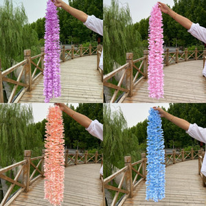 Wedding Decorations Artificial Flowers 1M Suspended Ceiling Ornaments Colorful Flower Prop Simulation Decor Flowers String 1 71nd G2