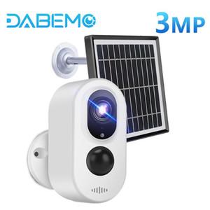 3MP solaire caméra WIFI extérieur Battery Street Panel caméra de sécurité sans fil 3.3W solaire Powered Mini mouvement PIR