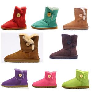 2021 Новый дизайнер Classic WGG ROOL BAILELY BONE высокая кнопка триплет Австралия Женская женская ботинка зимние снежные ботинки меховой пушистый австралийский W2IV #