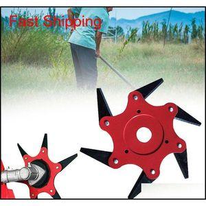 Tondeuse à gazon de jardin Manganèse Steel Steel Trimmer Brosse Pinceau Tête 6 Tooth Brush CutterCutter pour lawn QYLPXM BDESPORTS
