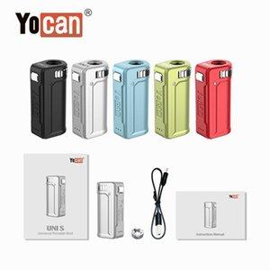 100% Original Yocan UNI S 400mAh Box Mod variável Tensão Pré-aqueça o VV bateria para 510 Vape Grosso Oil Cartuchos