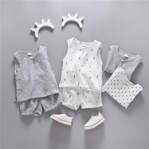 2020 New 2pcs Child T-shit+Pants Cotton O-neck Children Clothes Kids Boys Clothing child sets
