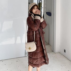 2020 Autumn Winter Women Fashion Light Jacket Korean Version Matching Loose Knee Students Cotton Padded Bread Clothes