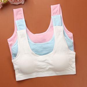 5pc Teenage Underwear Cotton Training Bras Kids Girls Children Puberty Young Small Bra for Teens