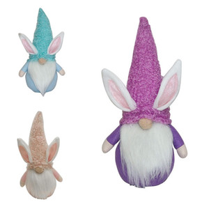 Easter Bunny Gnome Faceless Bunny Dwarf Doll Easter Plush Rabbit Dwarf Holiday Party Table Decoration Home Accessories