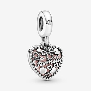 New Arrival 925 Sterling Silver Love Makes A Family Heart Dangle Charm Fit Original European Charm Bracelet Fashion Jewelry Accessories