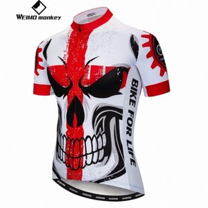 2019 cycling jersey Men's Bike jerseys Mountain MTB Shirts Short sleeve Team Top Summer wear skull Road clothes cVq0#