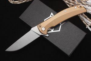 Shirogorov tan All steel ball bearing bear head folding knife D2 G10 folding camping survival knife outdoor xmas gift knife a3038