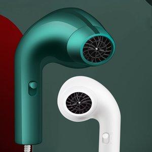 Saç kurutma makinesi 2000 W tel uzunluğu 1.7 M iyon kulaklık şekli aile yurdu beyaz yeşil taşınabilir hediye hızlı kuru