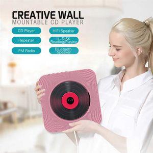 Reproductor de CD portátil Bluetooth montar en la pared de control remoto de radio de FM altavoz de alta fidelidad con 3,5 mm USB de 4 colores enchufe de US / EU / UK (observación)