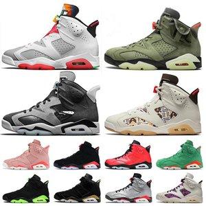 2020 Stok Jumpman X Kadın Erkek Basketbol Ayakkabıları 6 S Hare 6 Travis Saten Teknoloji Chrome Quai 54 Eğitmenler Sneakers