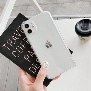 a prova di goccia trasparente della cassa del telefono di iPhone 12 Mini 11 Pro Max SE 2020 6 7 8 Plus X XR XS Max molle della copertura posteriore di Coque