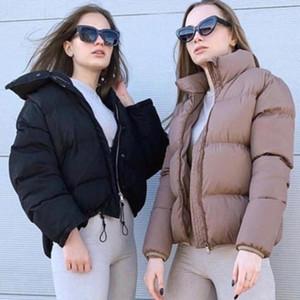 Yiciya Winter 8 Colores Oversized Bubble Chaqueta Mujer Puffer Abrigo Soporte Collar Menta Verde Jackets Espesar Parka Winterjas Dames