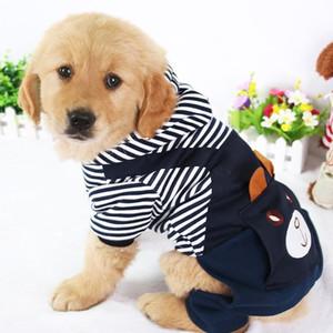 الأزياء مخطط كلب الملابس للكلاب معطف هوديي البلوز الشتاء ملابس Perro ملابس الكلب الكرتون الحيوانات الأليفة الملابس