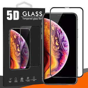 آيفون 12 برو ماكس 11 × 11 × 7 8 5D الزجاج المقسى كامل الجسم غطاء منحني فيلم سينمائي فون 6 6S 7 8 زائد مع حزمة