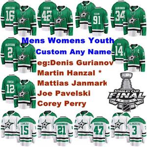 Dallas Stars maglie della gioventù Bambini Denis Gurianov Jersey Martin Hanzal Corey Perry Joe Pavelskiv Hockey su ghiaccio Maglie Personalizza cucito Cotone