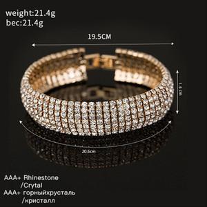 2021 best selling Crystal Bracelet Charm lady Rhinestone Silver Gold Bracelet Jewelry best gift for ladies