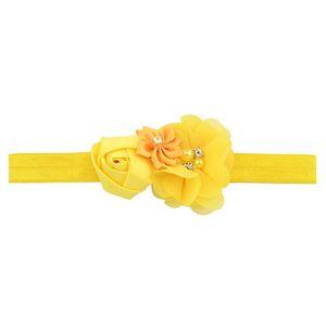 Girls colorés Rose Fleurs Bandeau Chic Flower Ruban avec bandes de poils élastiques perles Accessoires de cheveux 609 q sqciuy