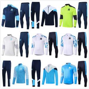 Футбольные майки 2020 2021 Олимпик Marseille Scurksuits 20 21 Футбол Костюм костюм Payet Benedetto Om Куртка для взрослых наборы для взрослых XXL