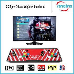 [2323 3D HD Games] Pandora 7 3D 1280*1080P 32GB Arcade Video Game Console Box Arcade Machine Double Arcade Joystick With Speaker yx2199