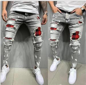 2020 Nouveau mode Streetwear Denim Jeans Hommes Pantalons Hommes Skinny Joggers Ripped Homme Zipper Hip Hop Harajuku Homme Jeans Denim Homme