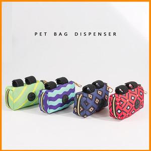 Neopren Köpek Poop Çanta Tutucu Renkli Pet Atık Çanta Dağıtıcı Premium Kaliteli Pick-up Çanta Fermuarlı Kılıfı My-INF0668