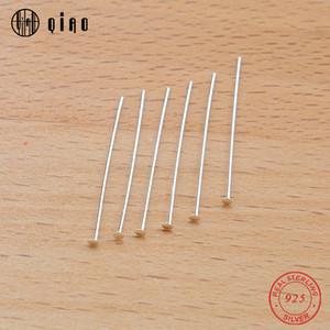 20pcs / pack 25mm 925 Sterlingsilber-Flat Head Pins T-Form Nadel Diy Schmuck Accessoires Schmuck Zubehör für Modeschmuck