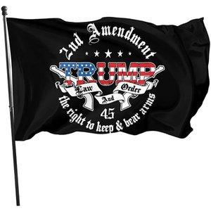 Trump Law 2nd Änderungsantrag Guns Amerikanische Flagge 3X5FT, 100D Polyester Hängen Alle Länder Doppelstiche, Outdoor Indoor