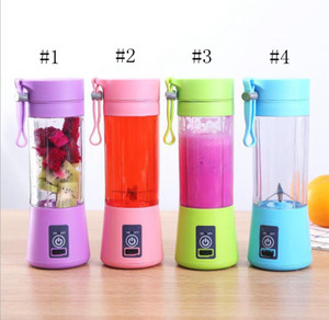 380ml Personal Blender Portable Mini Blender USB Juicer Cup Electric Juicer Bottle Fruit Vegetable Tools Six blades EEA284